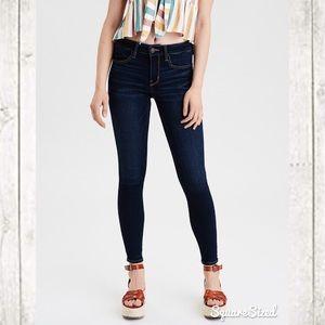 Dark Wash Super Stretch Skinny Jeans